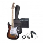 Pyle Full Size Electric 6 String Guitar Package w/ Amplifier