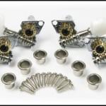 6pc. Open-Gear Guitar Tuners/Machine Heads w/ Nickel-Plated Bushings