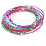 Multi Colored Guitar String Bracelets – Set of 9