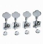 4pcs R Vintage Open Bass Tuners Machine Heads Knobs Chrome