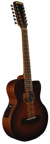 Morgan Monroe MMV-12CEB 12-Strings Acoustic-Electric Guitar, Vintage Tobacco Sunburst