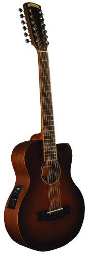 Morgan Monroe MMV-12CEB 12-Strings Acoustic-Electric Guitar, Vintage Tobacco Sunburst