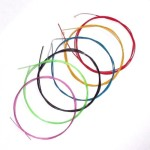 Generic Multi Colored Nylon Classical Guitar Strings Set Normal Tension Color Coated on Copper Wound Set of 3