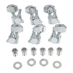 6pcs Chrome Guitar String Tuning Pegs Tuners Machine Heads Guitar Parts