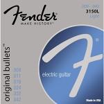 Fender 3150L Original Bullets Pure Nickel Bullet End Electric Guitar Strings – Light