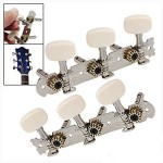 Chinatera 6pcs 3L3R Spare Open-Gear Guitar Tuners String Tuning Keys Pegs Machine Tuner Heads Guitar Parts Alignment