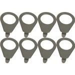 Knob pointer – Kluson, 90 degree blunt tip, Steel Nickel, package of 8
