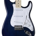 Jameson Full Size Blue Electric Guitar With Tremolo
