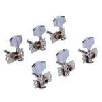 Generic 6pcs Alloy Guitar Knobs Set for Folk Guitar Silver