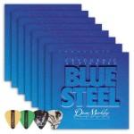 Dean Markley 2556 Blue Steel REG Electric Guitar Strings 8-Pack (0.10-.046) Includes Guitar Picks