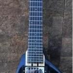 BootLegger Guitar Spade Headless In Black W/Stronghold Custom Gig Bag(Soft Case)
