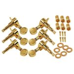 Beyond 3R3L 6 String Electric Guitar Tuning Pegs Machine Heads Tuners Keys Concave Button Gold