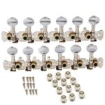 Beyond 6R6L 12 String Acoustic Guitar Machine Heads Tuning Pegs Tuners Keys Chrome Pack of 2