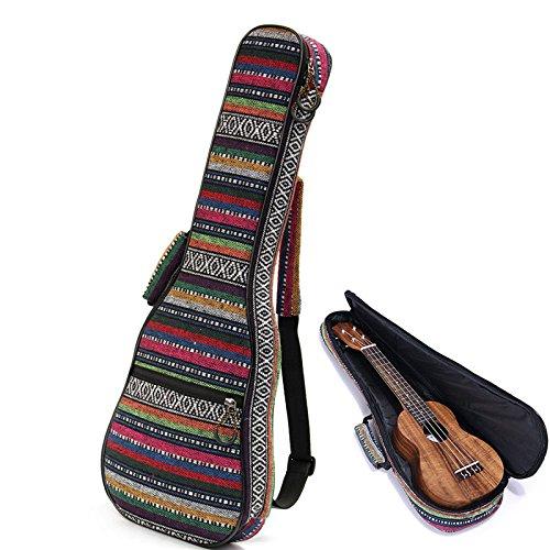 "1Pc ( 23"" ) Beautiful Soft Pad Cotton Folk Style Hand Portable Bag Case Cover For Ukulele Small Guitar Gig Bag"