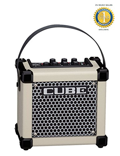 Roland Micro Cube GX 3W 1-channel 1×5″ Battery-powered Guitar Combo Amp White with 1 Year Free Extended Warranty