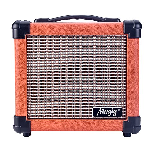 Mugig Guitar Amplifier with Handle Portable Amplifier for Electric Guitar 10W Combo Guitar Amp