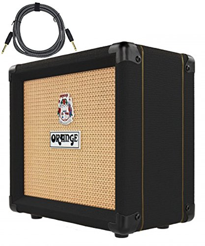 Orange Crush 12 Black CR12 Amp 12w Small Guitar Combo Amplifier Free Cable Bundle