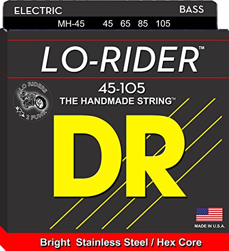 DR Strings Lo-Rider – Stainless Steel Hex Core Bass 45-105