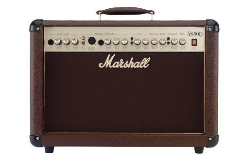 Marshall Acoustic Soloist AS50D 50 Watt Acoustic Guitar Amplifier with 2 Channels, Digital Chorus and Reverb