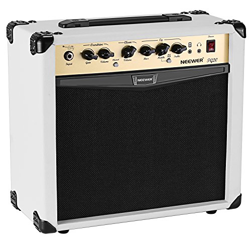 Neewer 20-Watt Electric Guitar Combo Amplifier with 3-Band EQ, 2 Channels, Ideal for Music and Guitar Lovers