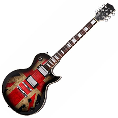 Electric guitar, LP style, with UK Flag sticker