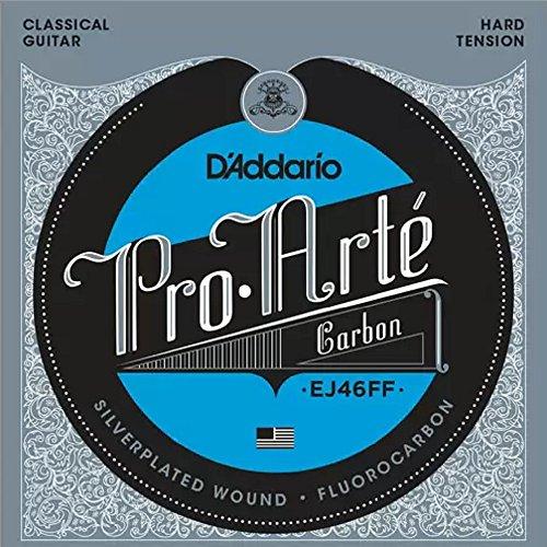D'Addario EJ46FF ProArte Carbon Classical Guitar Strings, Dynacore Basses, Hard Tension