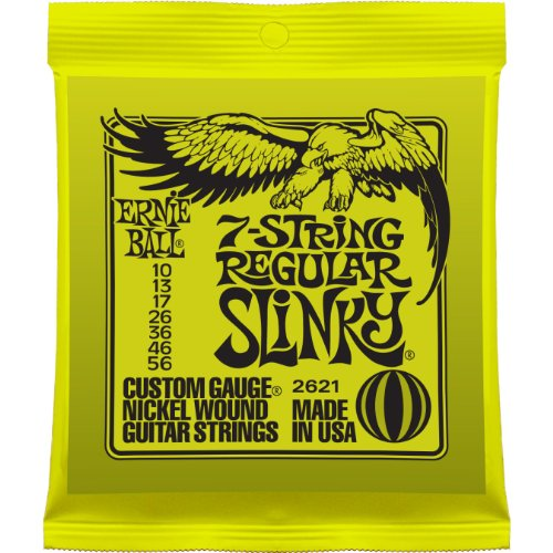 Ernie Ball 7-String Regular Slinky Nickel Wound Set, .010 – .056