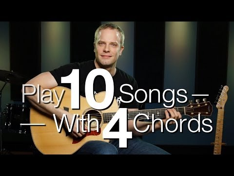 Play 10 Songs With 4 Chords – Free Guitar Lessons |